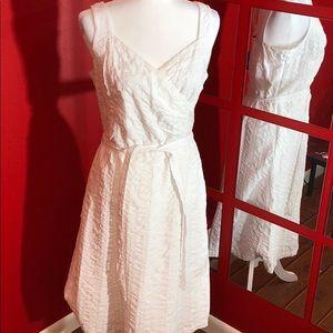 Lands' End White Dress
